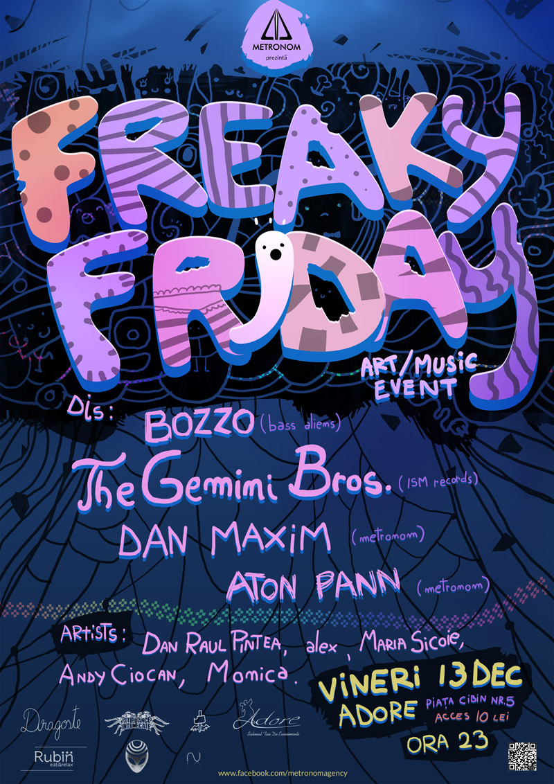 Event poster created for Freaky Friday in Sibiu