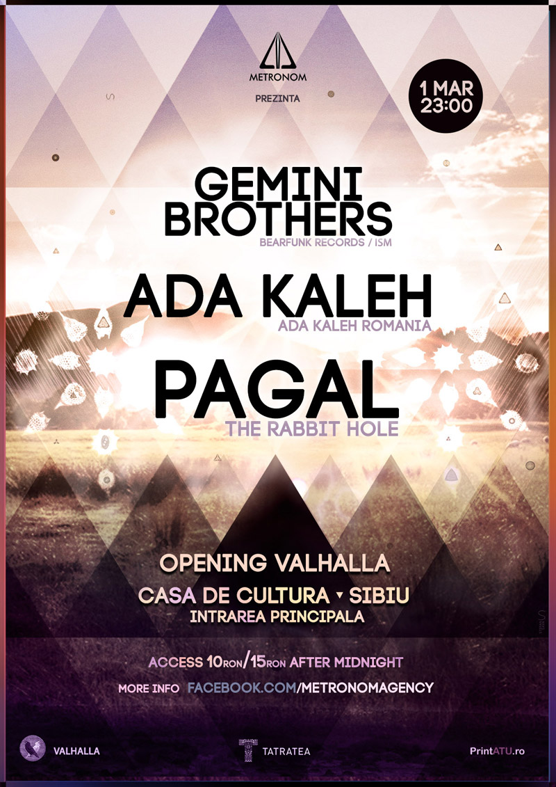 Event poster for the Valhalla opening in Sibiu