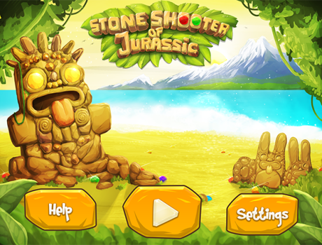 Stone Shooter of Jurassic UI